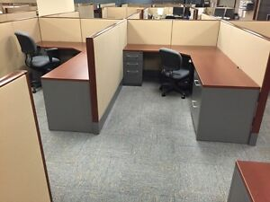 Used Office Cubicles Haworth Premise 6x8 Cubicles