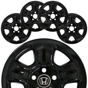 4 Fit Honda Crv 2012 2016 Black 16 Wheel Covers Rim Skins Hub Caps Steel Wheels