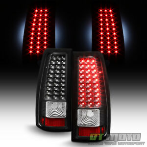 Black 1999 2002 Chevy Silverado 1500 2500 3500 Led Tail Lights Brake Lamps 99 02