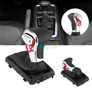 Car Gear Shift Knob Gaitor Boot Cover Black Leather New For Audi A5 A4l Q5 B8pa
