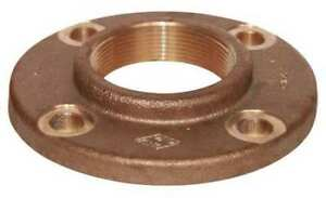 2 Fnpt Red Brass Flange 4tjk3