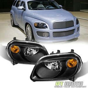 Black 2006 2011 Chevy Hhr Replacement Headlights Headlamps 06 11 Set Left Right