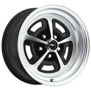 Legendary Wheel Co Lw50 50754d Mustang Magnum 500 Alloy Wheel 15 x7 Satin Blac