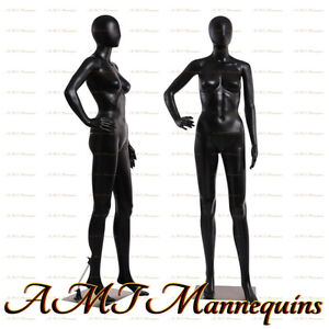 Female Display Mannequin On Sale Durable Black Plastic Manikin fc 11b