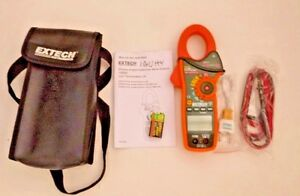 New Extech Ex830 1000a True Rms Ac dc Clamp Meter With Ir Thermometer