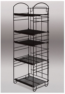 For Sale Arc Top Wire Adjustable Shelf Display Rack 5 Tier black