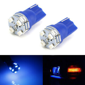 360 Illuminated Blue 12 Smd 168 2825 W5w T10 Led Bulbs For License Plate Lights
