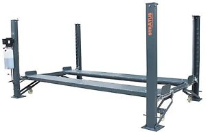 Stratus 4 Post 9000 Lbs Capacity Manual Release Car Lift Auto Hoist W castors