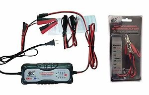 Us Ship Moto Car Automatic Smart Battery Charger 12v 24v Car Battery Tester