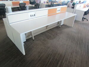Used Office Cubicles Knoll Benching Workstations 5x2