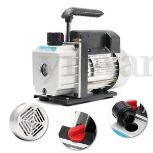 Single Stage Vacuum Pump Rotary Vane 3cfm 1 4hp Deep Hvac Ac Air Tool 180w 220v