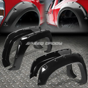 For 88 99 Chevy Gmc C K Pocket Riveted Matte Abs Side Wheel Fender Flare Cover