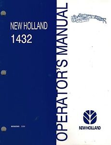 New Holland 1432 Discbine Disc Mower conditioner Operator s Manual new