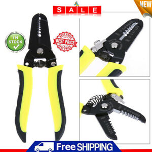 Pro Wire Cable Striper Cutter Stripper Crimper Pliers Terminal Electrical Tool