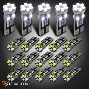 20x T10 10 smd Canbus Led Light Bulbs Lamps White 20pcs 168 194 1206 W5w
