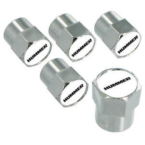 Hummer Logo Tire Stem Valve Caps Set chrome