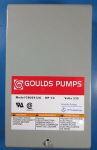 Goulds Pumps 1 2hp 1ph 60hz 230v Control Box Cb05412g Itt Industries
