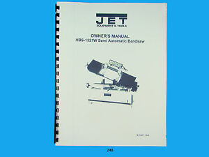 Jet Hbs 1321w Band Saw Owners Manual 248