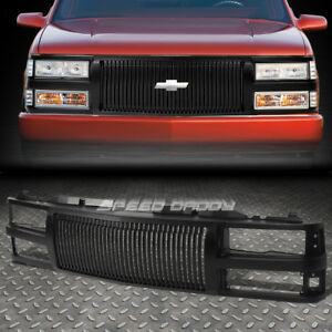 For 94 00 Chevy C10 C K Tahoe Blazer Front Bumper Black Vertical Grille Guard