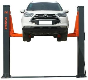 Stratus 2 Post Baseplate 12000 Lbs Capacity Single Point Manual Release Car Lift