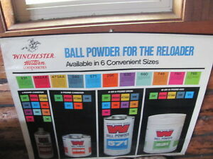 VINTAGE WINCHESTER WESTERN BALL POWDER RELOADING POSTER 36 BY 32 INCHES $37.25