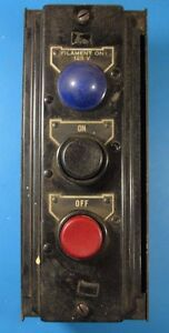 Vintage 1940 s Westinghouse Push Button Filament On off 125v X87398 124 5 135