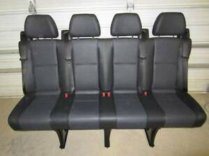 14 16 Mercedes Benz Sprinter Van 4 Passenger Black Leather Rear Bench Seat