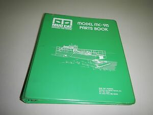 Mud Cat Mc 915 Mc915 Auger Boom Dredge Parts Book Catalog Manual