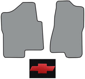 2001 2003 Chevrolet Silverado 1500 Hd Cutpile Carpet Logo Floor Mat 2pc