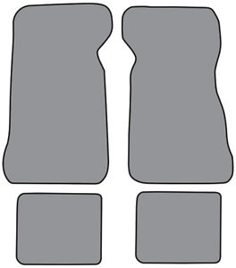 1972 1973 Ford Thunderbird Loop Carpet Logo Floor Mat 4pc
