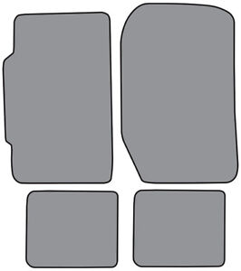 1986 1987 Honda Prelude Cutpile Carpet Floor Mat 4pc