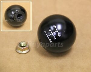 Jdm Black Aluminum 2 Ball Style 5 Speed Shift Knob M10x1 5 For Acura