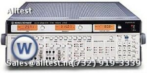Rohde Schwarz Upa3 R s Upa 3 b6 b8 Audio Analyzer 10hz 100khz