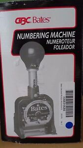 Gbc Bates Numbering Machine 7emult 9820325 New Other