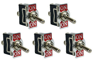 5 Pc Temco Heavy Duty 20a 125v On on Spdt 3 Terminal Toggle Switch
