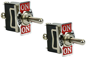 2 Pc Temco 20a 125v on off on Spdt 3 Terminal Toggle Switch Momentary