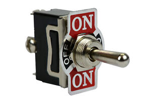 Heavy Duty 20a 125v Toggle Switch On off on Spdt 3 Terminal Momentary 1 Side