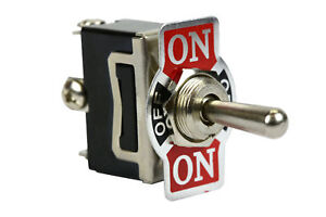 Heavy Duty Toggle Switch 20a 125v on off on Spdt 3 Terminal Momentary 2 Side