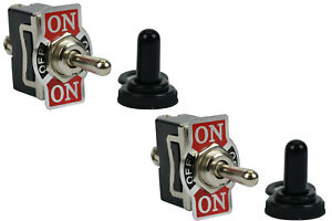 2 Pc Temco 20a 125v On off on Spdt 3 Terminal Toggle Switch W Waterproof Boot