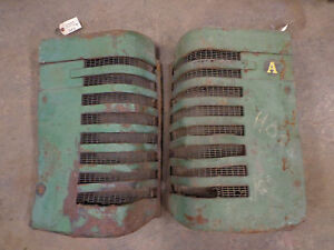 Z450 Vintage John Deere Model A Tractor Grill Grills Grille 2 Cyld Pair L R