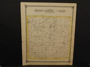 Kansas Saline County Map Solomon Township 1884 L9 96