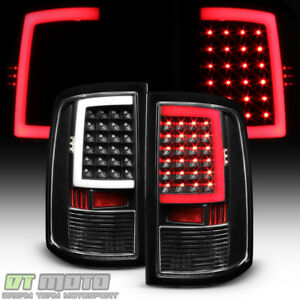 Black 2009 2018 Dodge Ram 1500 10 18 2500 3500 Led Bar Tail Lights Brake Lamps