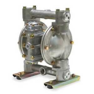 Dayton 6py53 Double Diaphragm Pump 316 Stainless Steel Air Operated Ptfe