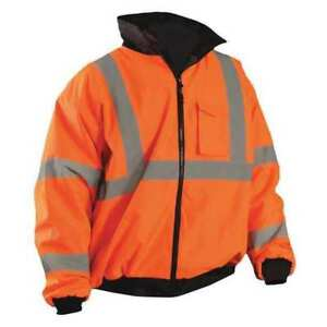 Large High Visibility Jacket Orange