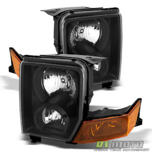 2006 2010 Jeep Commander Black Headlights Headlamps Replacement Left Right 06 10