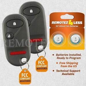 2 For 2001 2002 2003 2004 2005 Honda Civic Remote Car Keyless Entry Key Fob