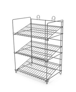 Counter Gum Candy And Snack Display Rack 3 Shelf black