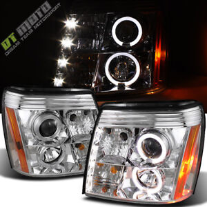 2003 2006 Cadillac Escalade Drl Led Projector Halo Headlights Headlamps Hid Type