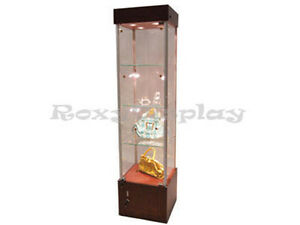 Cherry Style Tower Display Case Assembled Showcase sc wl18ch