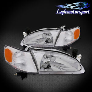 For 1998 1999 2000 Toyota Corolla Chrome Factory Style Replacement Headlights
